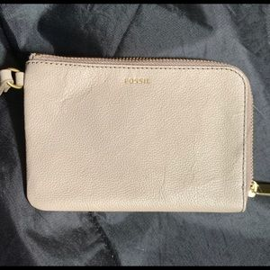 Fossil Tiegan Wallet in Taupe